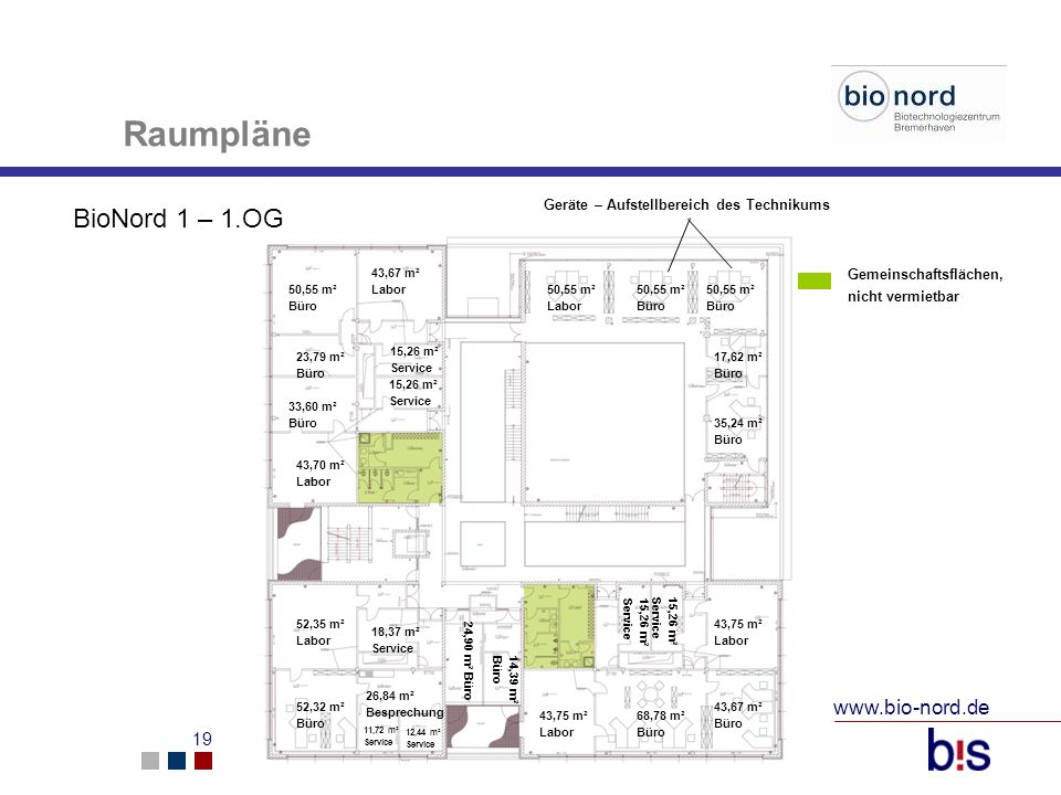 Raumpläne BioNord 1 – 1.OG www.bio-nord.de