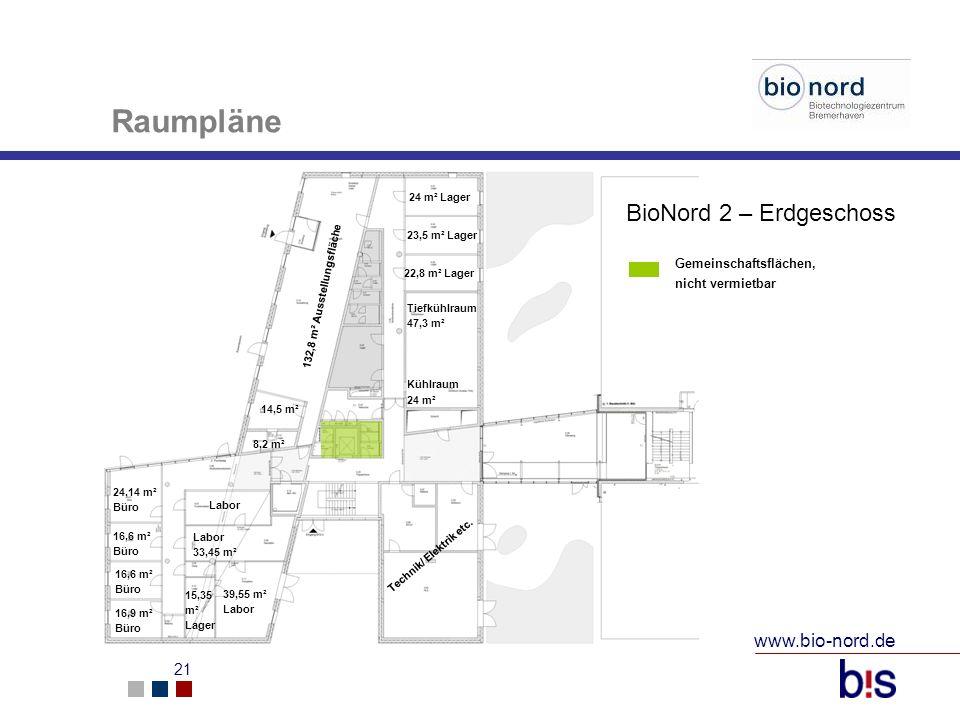 Raumpläne BioNord 2 – Erdgeschoss www.bio-nord.de