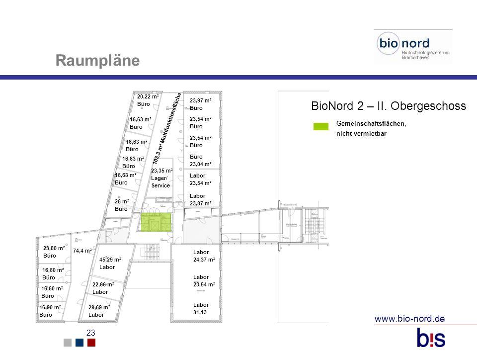 Raumpläne BioNord 2 – II. Obergeschoss www.bio-nord.de