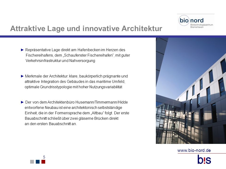 Attraktive Lage und innovative Architektur