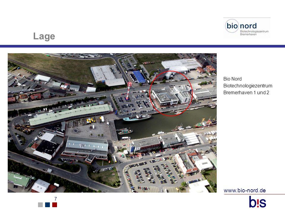Lage Bio Nord Biotechnologiezentrum Bremerhaven 1 und 2 www.bio-nord.de