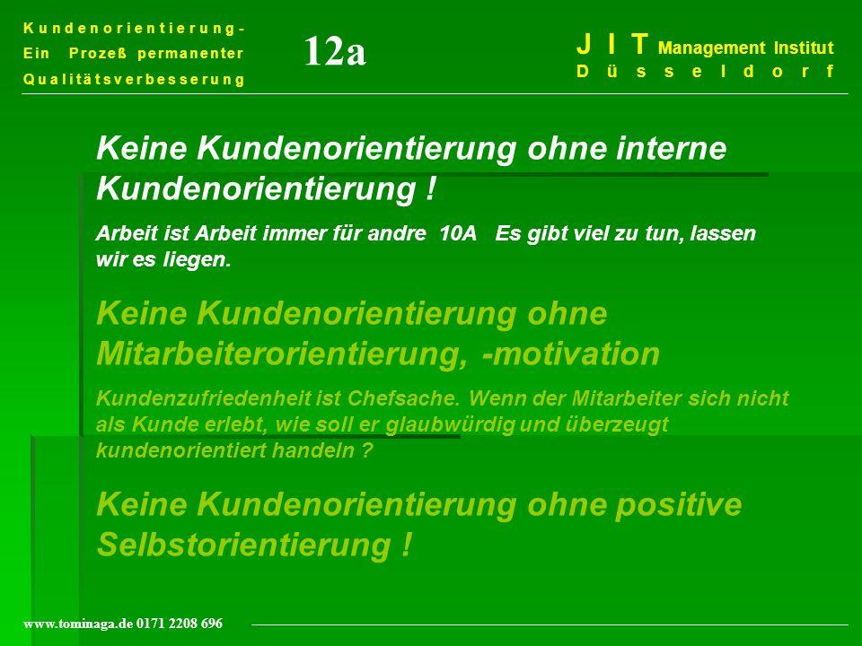 12a Keine Kundenorientierung ohne interne Kundenorientierung !