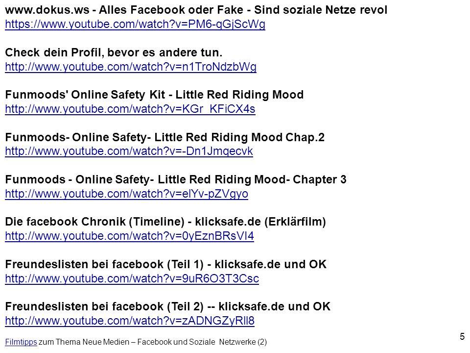 Filmtipps zum Thema Neue Medien – Facebook und Soziale Netzwerke (2)