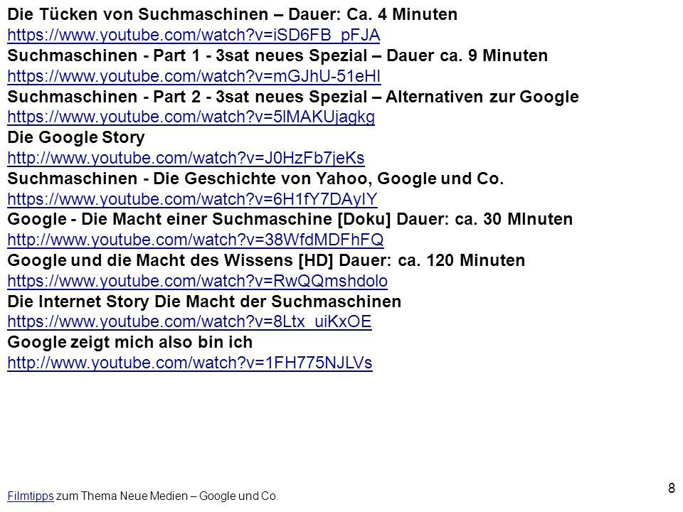 Filmtipps zum Thema Neue Medien – Google und Co.