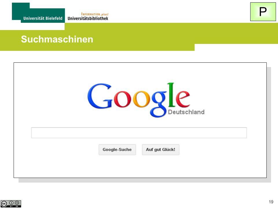 P Suchmaschinen