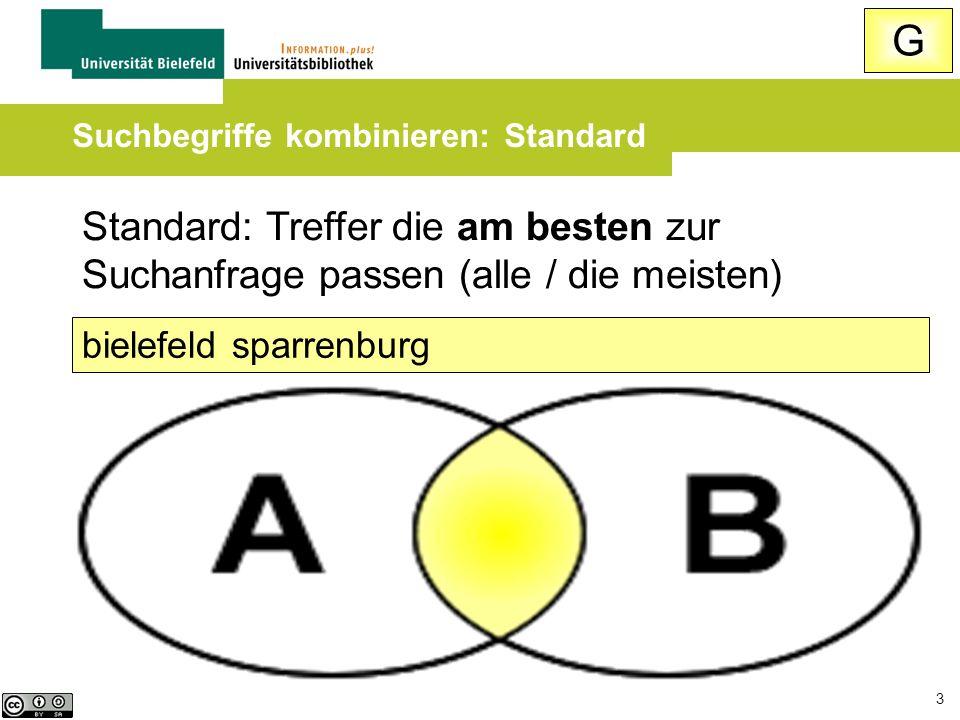 Suchbegriffe kombinieren: Standard