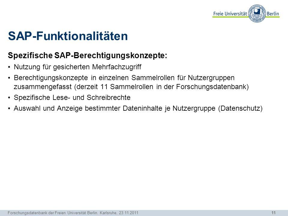 SAP-Funktionalitäten