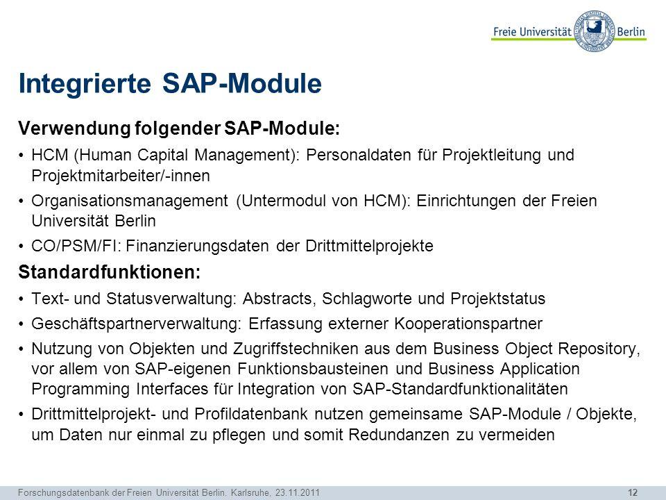 Integrierte SAP-Module