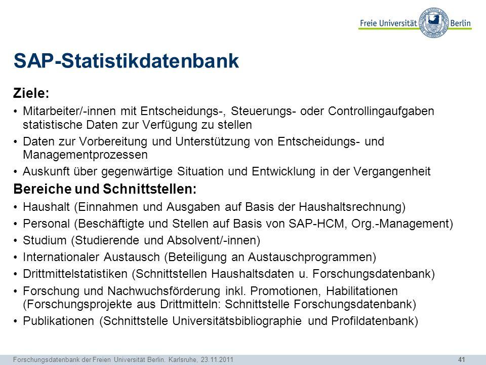 SAP-Statistikdatenbank