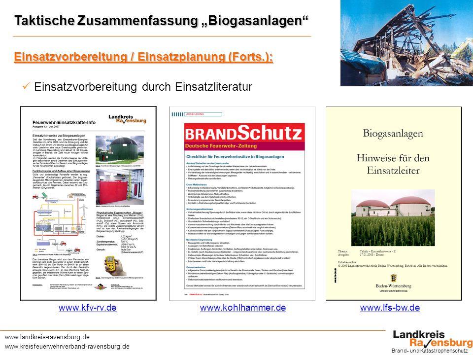 """Taktische Zusammenfassung """"Biogasanlagen"""