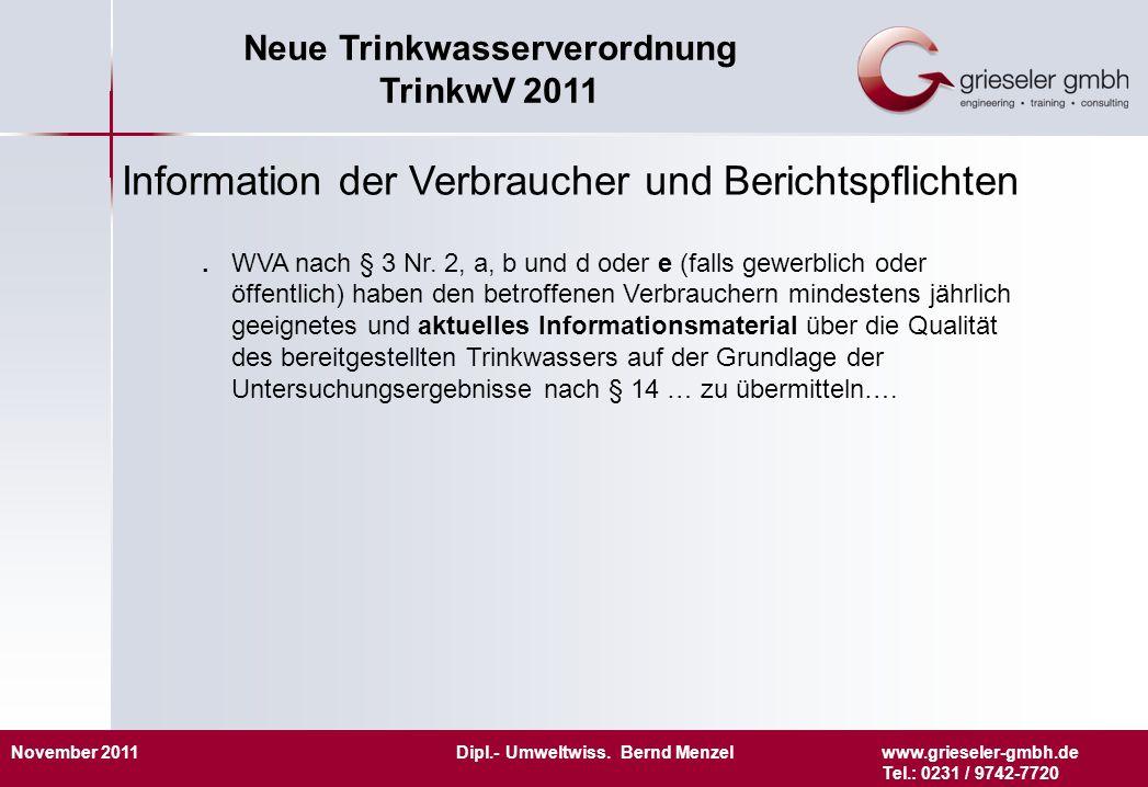 Information der Verbraucher und Berichtspflichten