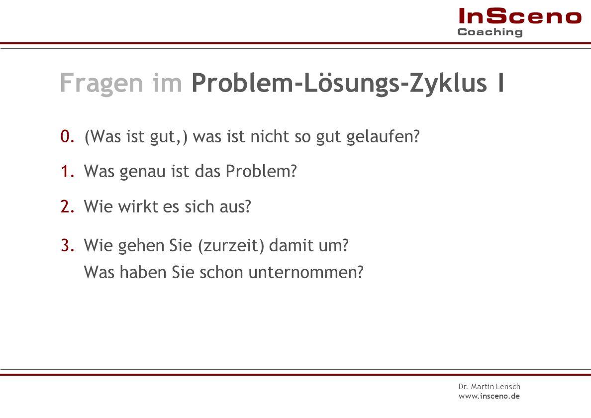 Fragen im Problem-Lösungs-Zyklus I