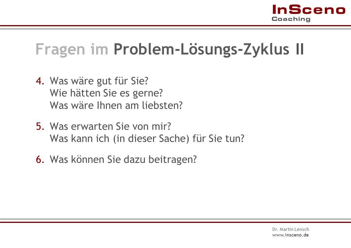 Fragen im Problem-Lösungs-Zyklus II