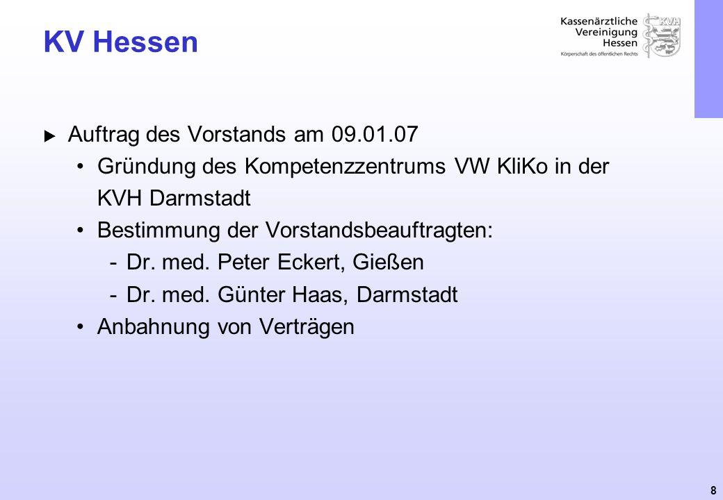 KV Hessen Auftrag des Vorstands am 09.01.07