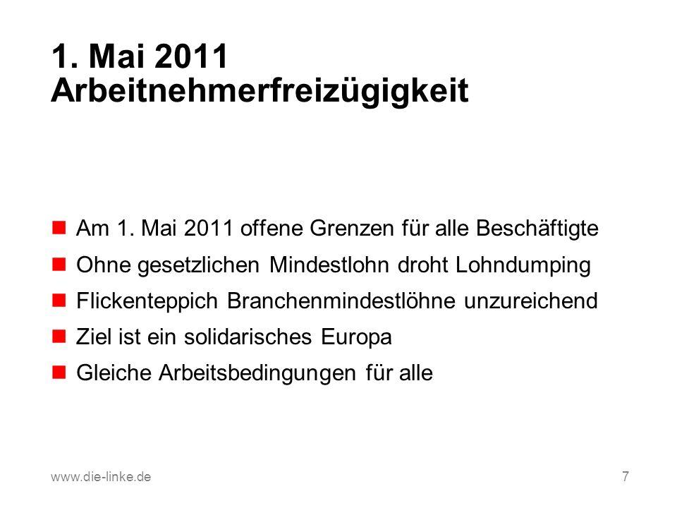 1. Mai 2011 Arbeitnehmerfreizügigkeit