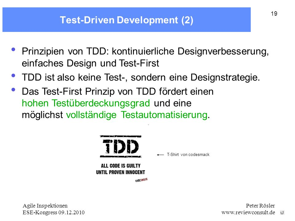 Test-Driven Development (2)
