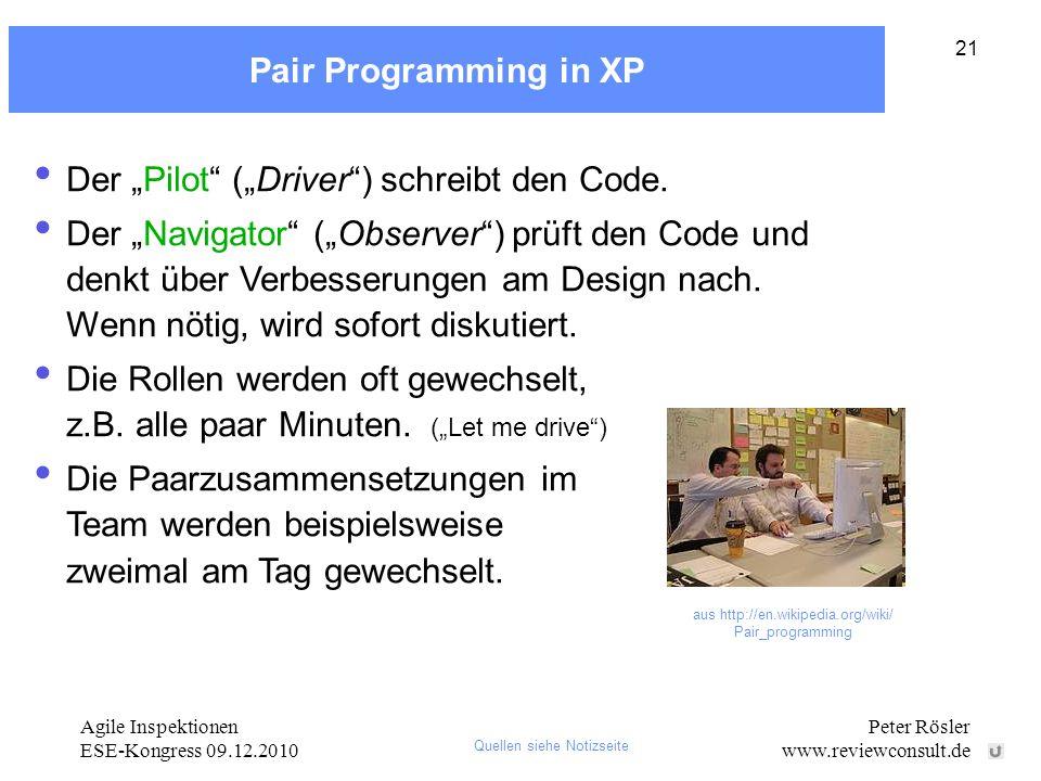 aus http://en.wikipedia.org/wiki/ Pair_programming