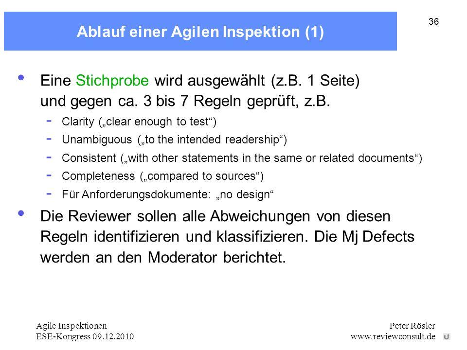 Ablauf einer Agilen Inspektion (1)