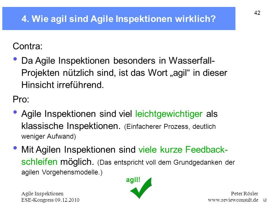 4. Wie agil sind Agile Inspektionen wirklich