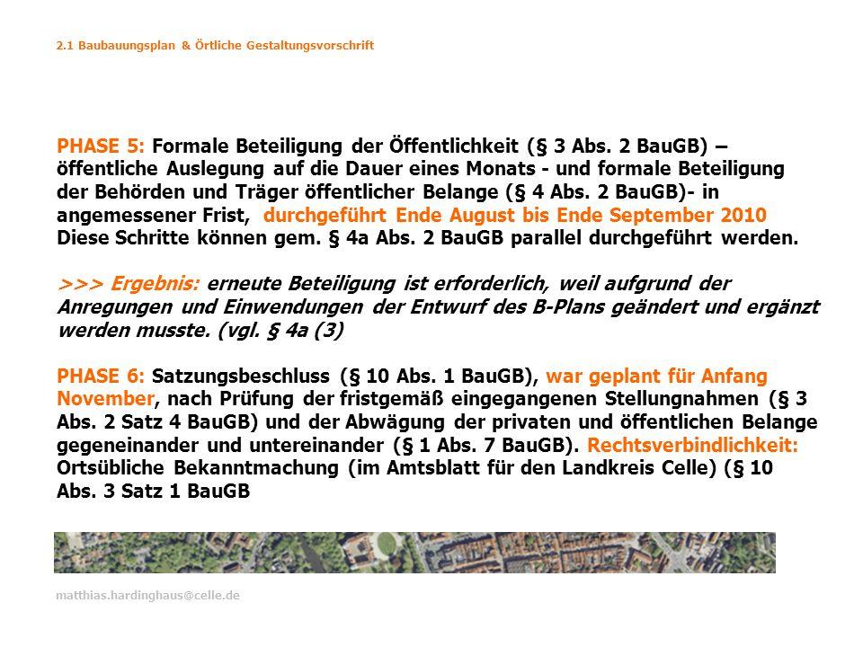 2.1 Baubauungsplan & Örtliche Gestaltungsvorschrift