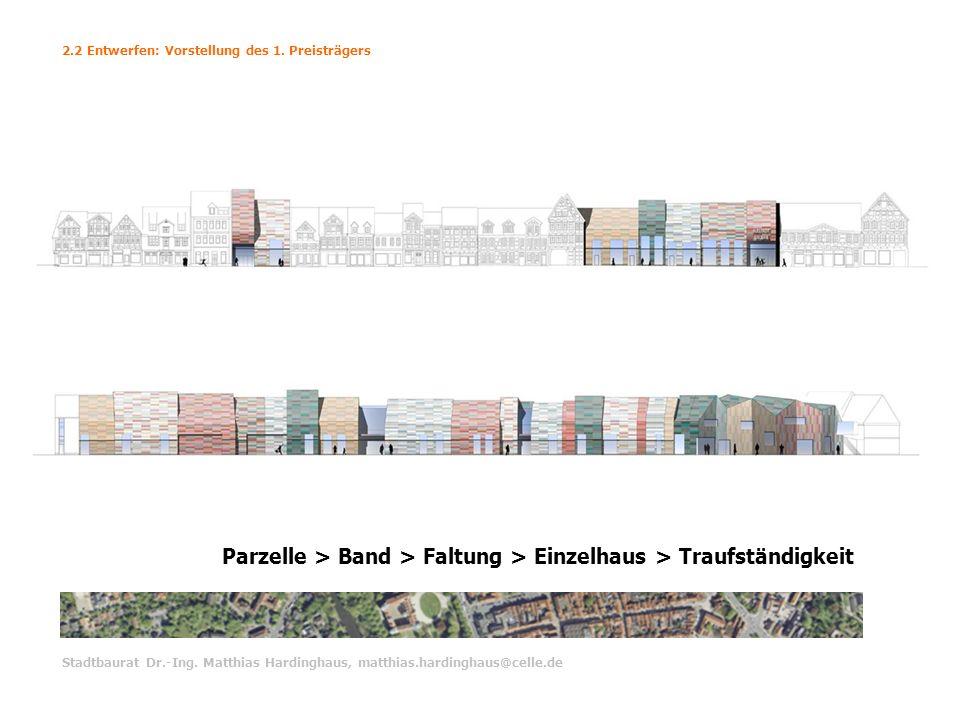 Parzelle > Band > Faltung > Einzelhaus > Traufständigkeit