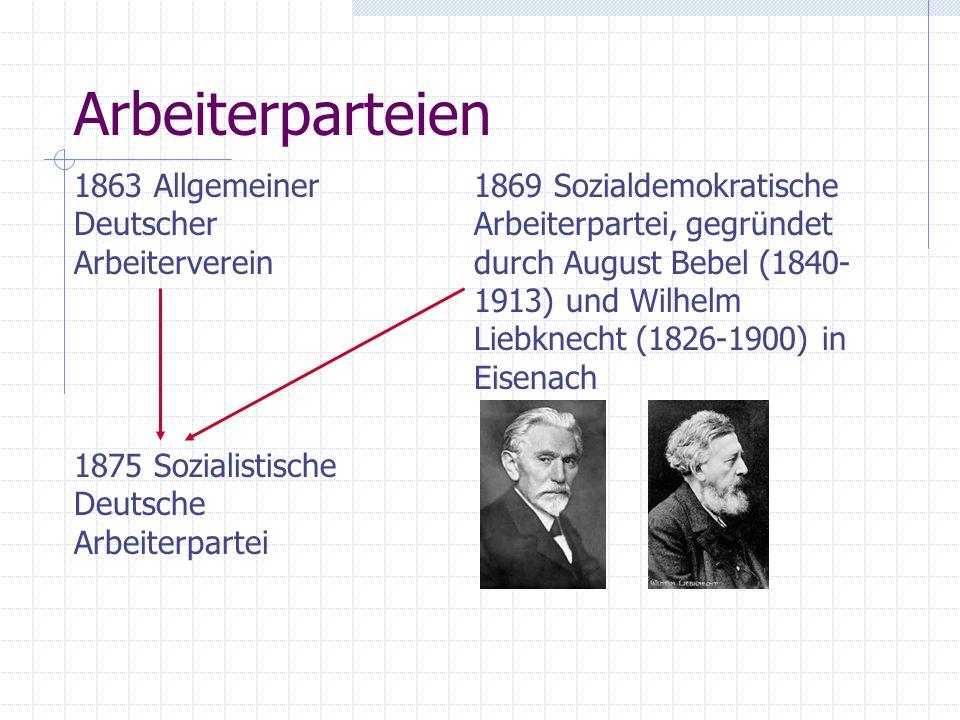 Arbeiterparteien 1863 Allgemeiner Deutscher Arbeiterverein
