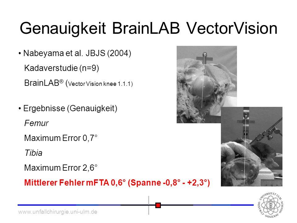 Genauigkeit BrainLAB VectorVision