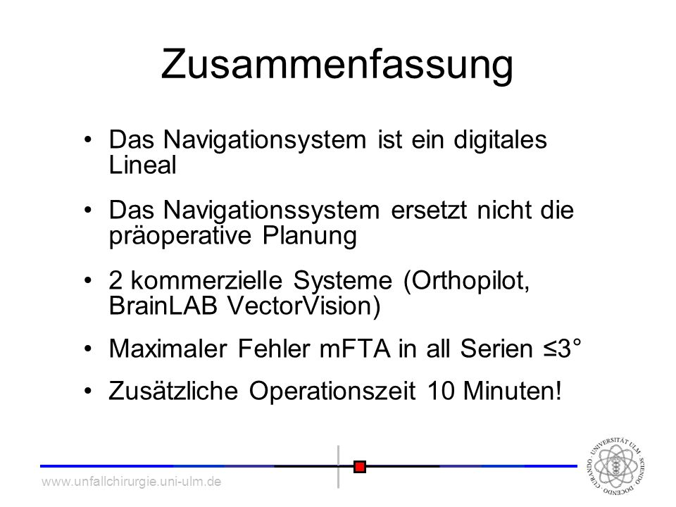Zusammenfassung Das Navigationsystem ist ein digitales Lineal