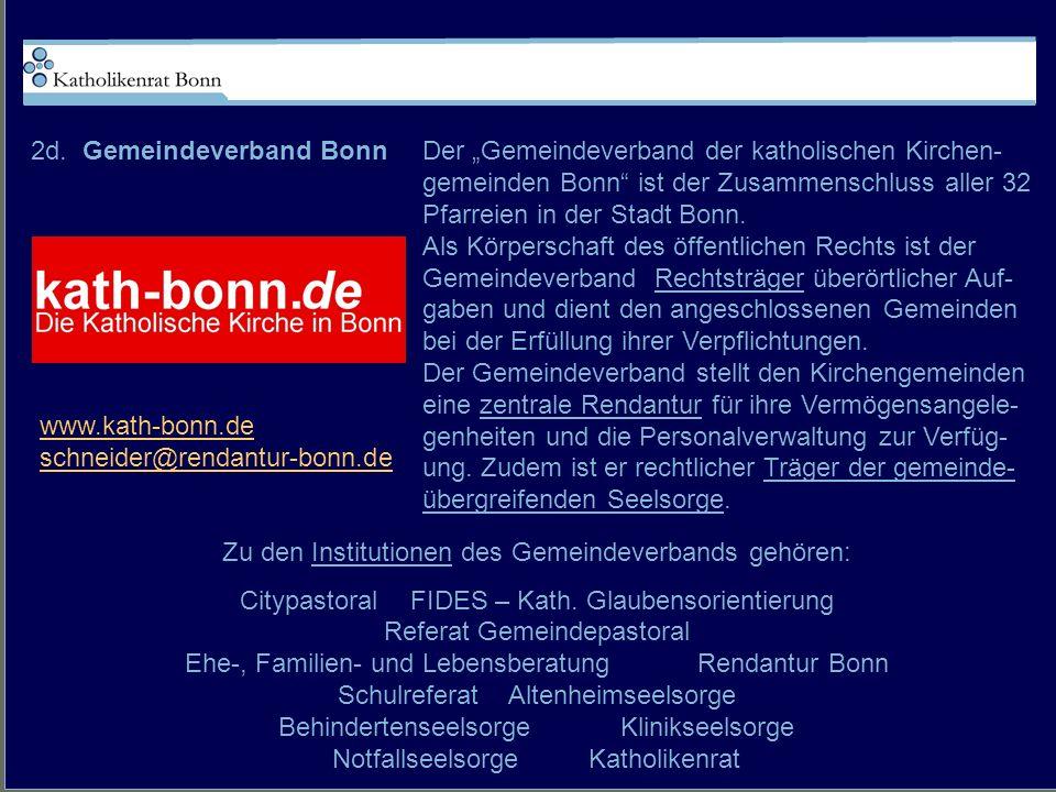 2d. Gemeindeverband Bonn