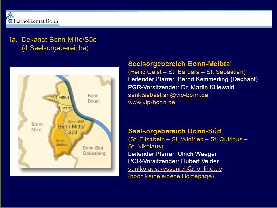 1a. Dekanat Bonn-Mitte/Süd (4 Seelsorgebereiche)
