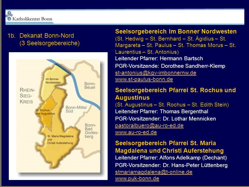 Seelsorgebereich Im Bonner Nordwesten 1b. Dekanat Bonn-Nord
