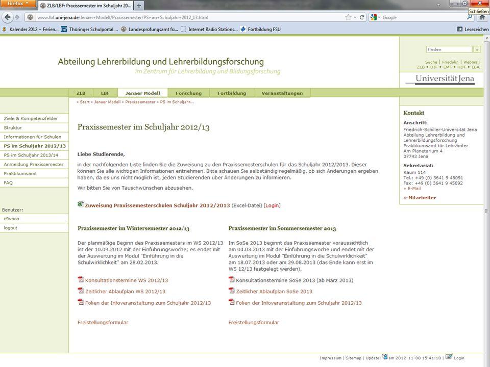 16.01.2013 | Informationsveranstaltung | www.uni-jena.de/ZLB.html