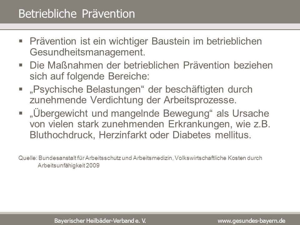 Betriebliche Prävention