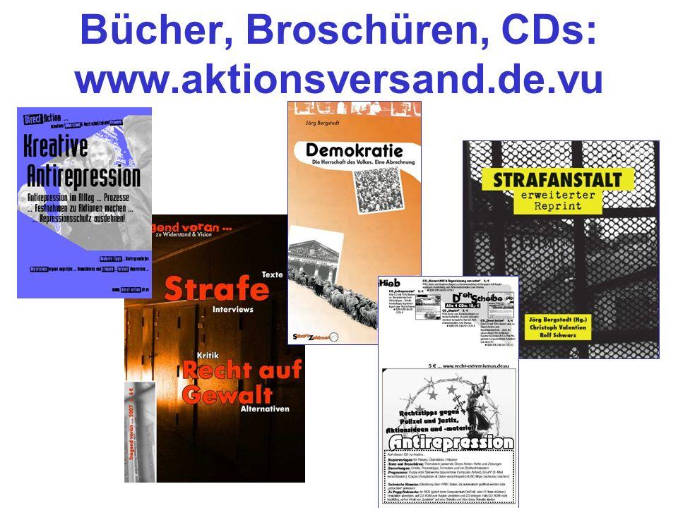 Bücher, Broschüren, CDs: www.aktionsversand.de.vu