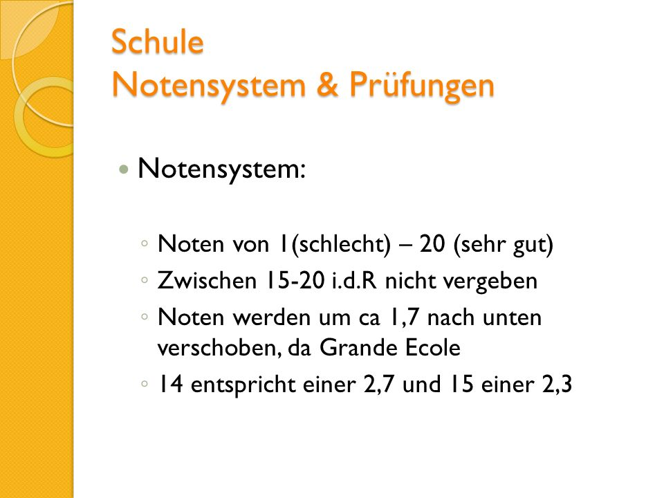 Schule Notensystem & Prüfungen