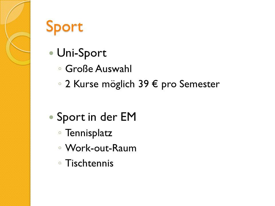 Sport Uni-Sport Sport in der EM Große Auswahl