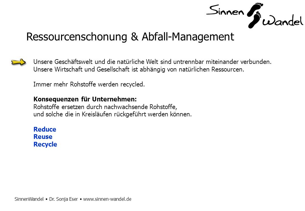 Ressourcenschonung & Abfall-Management