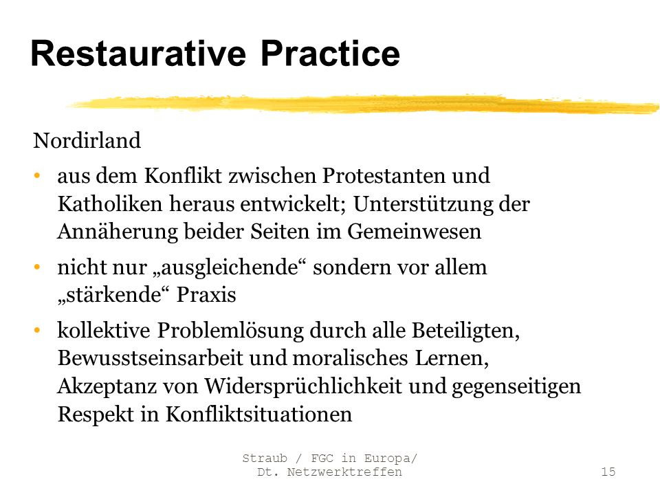 Restaurative Practice