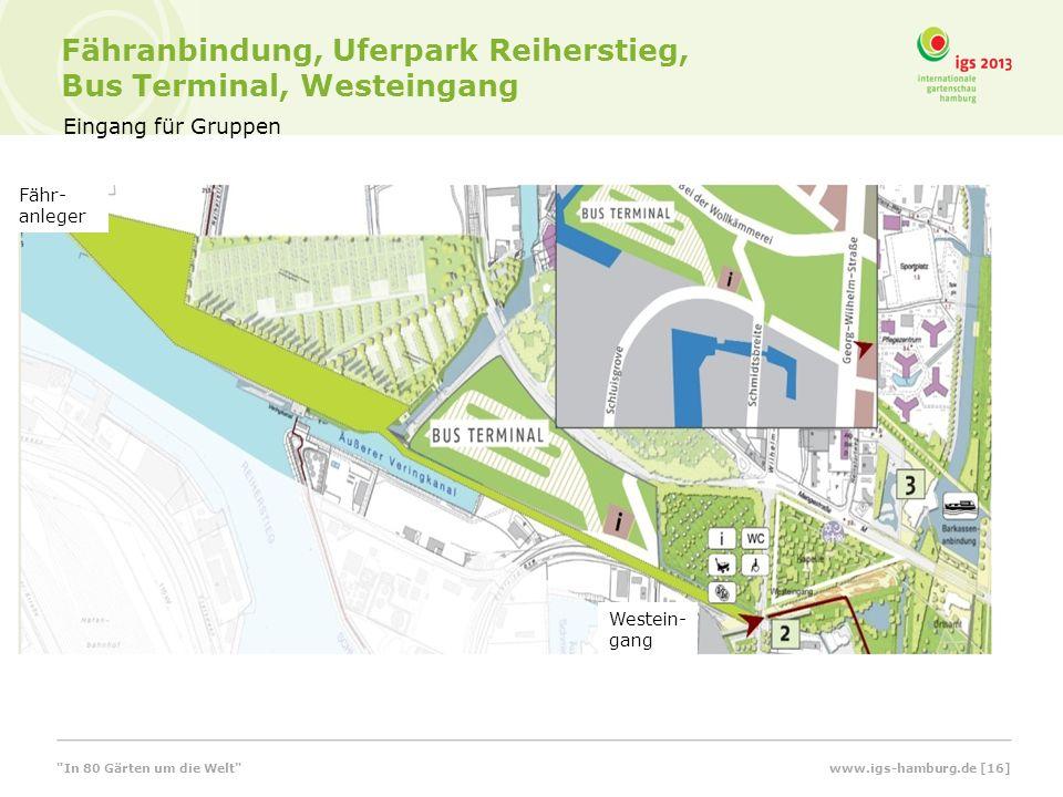 Fähranbindung, Uferpark Reiherstieg, Bus Terminal, Westeingang