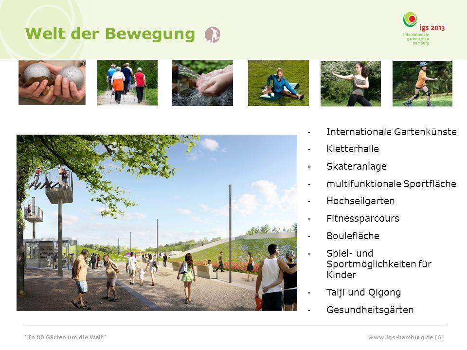 Welt der Bewegung Internationale Gartenkünste Kletterhalle