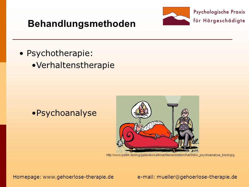 Behandlungsmethoden Psychotherapie: Verhaltenstherapie Psychoanalyse
