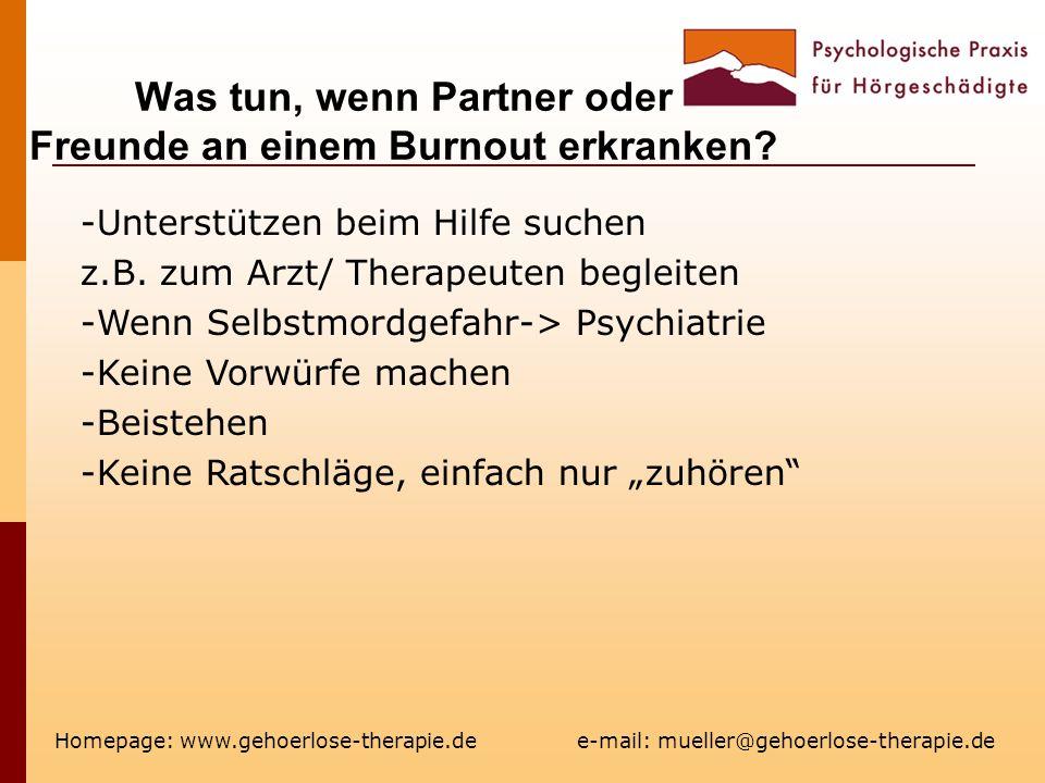 Was tun, wenn Partner oder Freunde an einem Burnout erkranken