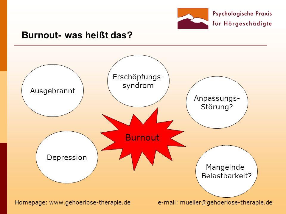 Burnout- was heißt das Burnout Erschöpfungs- syndrom Ausgebrannt