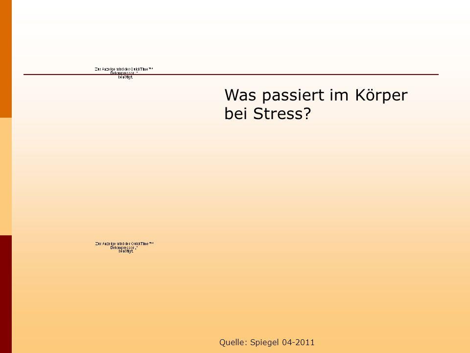 Was passiert im Körper bei Stress Quelle: Spiegel 04-2011