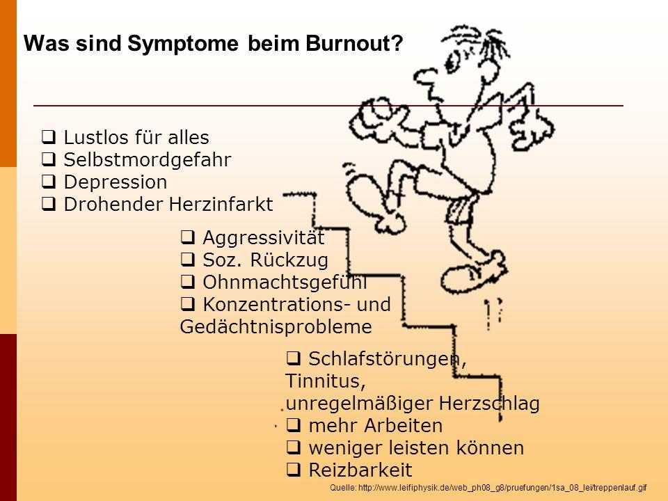 Was sind Symptome beim Burnout