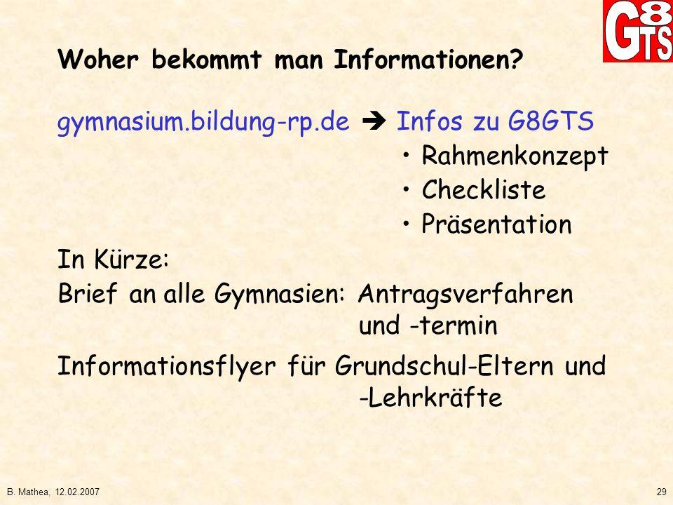 Woher bekommt man Informationen