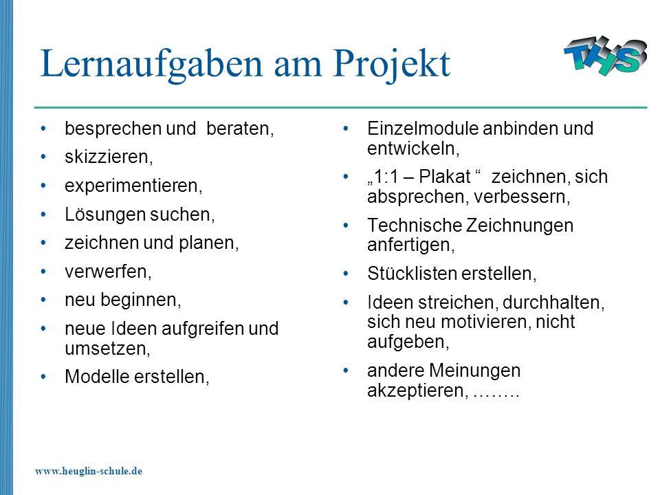Lernaufgaben am Projekt