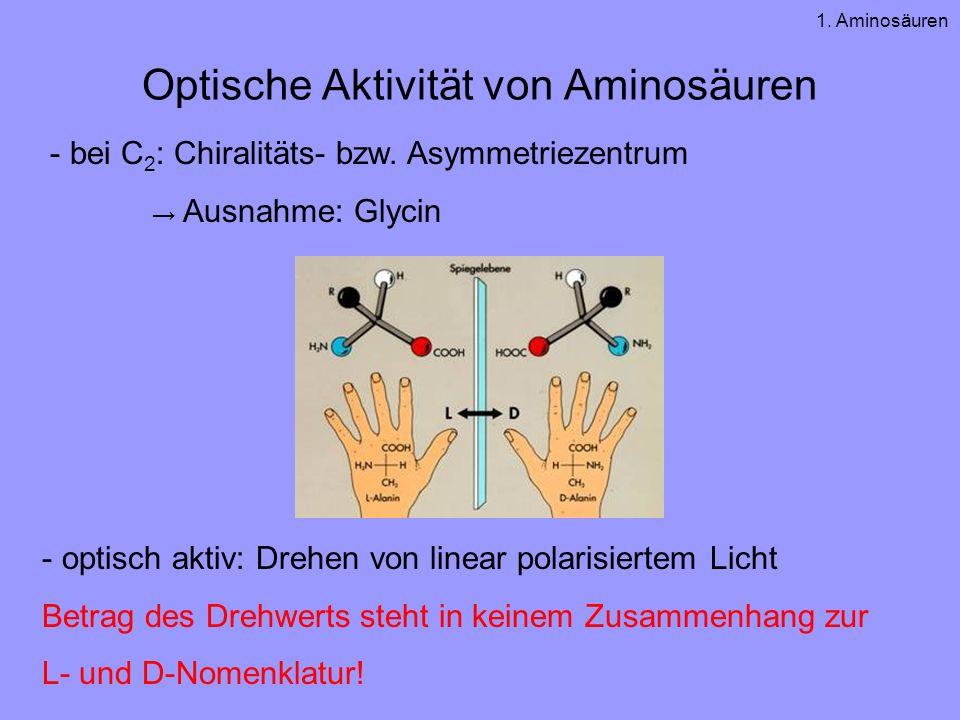Optische Aktivität von Aminosäuren
