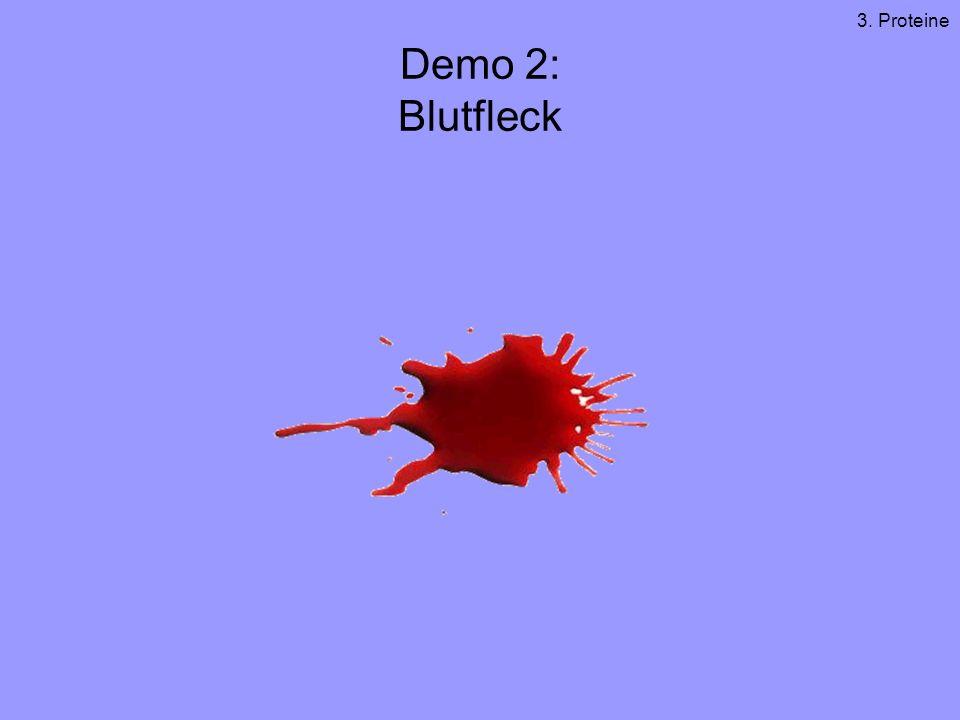 3. Proteine Demo 2: Blutfleck