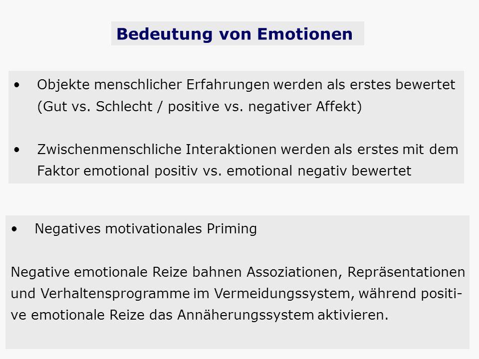 Bedeutung von Emotionen